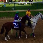 Chrome on way to the post in the Preakness